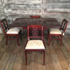 duncan phyfe dining table w set of 4 chairs