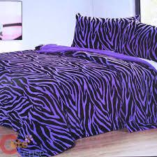 Zebra Bed Set Purple Zebra Bedspread Blanket 2 Pillow Cover 3pc Bedding