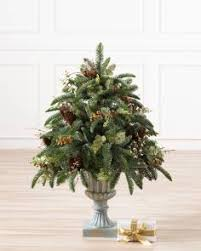 Decorative Pine Trees Artificial Potted Christmas Trees U0026 Topiaries Balsam Hill