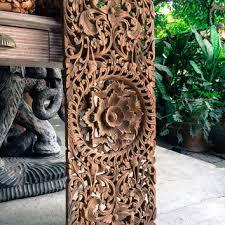 large carved wood panel teak wood wall from siamsawadee on etsy