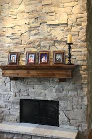 living room wisconsin prairie mantel modern stone fireplace