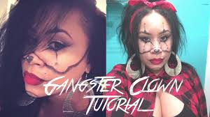 gangster clown halloween makeup tutorial makeupbybella youtube