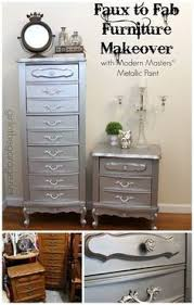 Masters Filing Cabinet Modern Masters Metallic Paint Enhances A Dresser Painted By