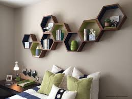 Home Decor Shelf by Hexagon Floating Shelves Honeycomb Shelf Home Decor Wood