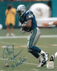 Seattle Seahawks Toaster Chris Warren Autographed Hand Signed Seattle Seahawks 8x10 Photo