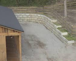 home design cinder block retaining wall foundation deck basement