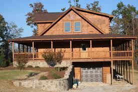 log house with wrap around porch round designs