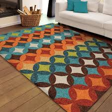 Orange And Blue Area Rug Excellent Orange And Blue Rugs Roselawnlutheran Throughout Area
