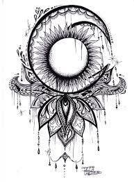 resultado de imagen de mandala sun moon ink