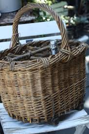 country wine basket antique chagne carrier baskets