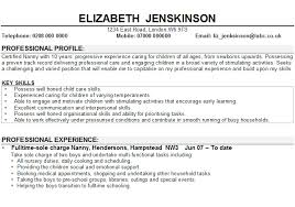 Key Skills Examples For Resume by Resume Nanny Job Experience Resume For Nanny Resume Cv Cover