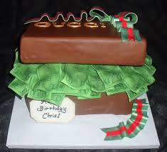 edible money fondant present cake of edible money with designer label