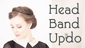 1940 u0027s hair style tutorial the headband updo trick youtube