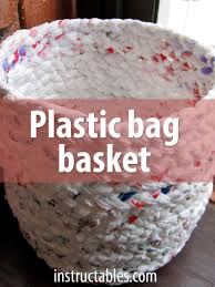Home Decor Using Recycled Materials Make A Basket Out Of Plastic Bags Upcycle Crochet And Upcycling