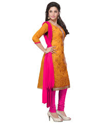 style holich modern gold churidar dress material buy style