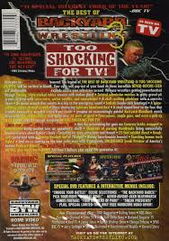best of backyard wrestling 3 too shoc 0689967333309 amazon com