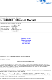 bts18000mcpa gsm 18000 mcpa bts users manual v160pdg avaya canada