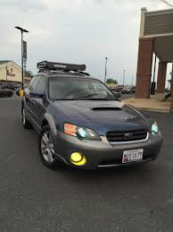 subaru legacy lift kit mounting led bar on roof rack battlewagon