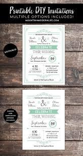 rustic mint diy wedding invitation template mountainmodernlife com