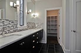 Bathroom Backsplashes Ideas Bathroom Backsplash Ideas With White Wall And Black Cabinet Home