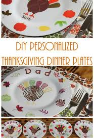 diy personalized thanksgiving dinner plates thanksgiving hometalk