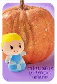 itty bittys cinderella and magic pumpkin halloween card