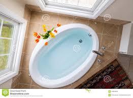 Oval Bathtub Corner Oval Bathtub Full Of Clean Water Stock Photo Image 60950893