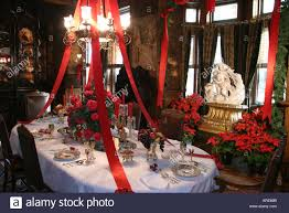 Queen Anne Dining Room Richmond Virginia Maymont House Dining Room Christmas Decor Stock