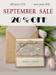 wedding invitation sle sale rustic wedding invitation lace wedding invites pocket
