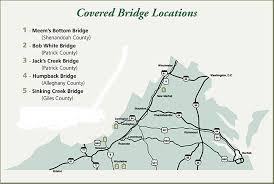 bridges of county map covered bridge locations