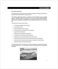 farm business plan template u2013 13 free word excel pdf format