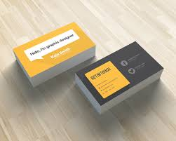 yellow business card premium and free graphic resources
