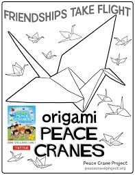 coloring pages peace crane