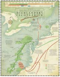 Pr Map Map Of Pr Revolutionary Highlander And Scots Irish Migrations To