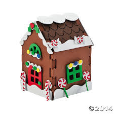 3d gingerbread house christmas craft kit 12 pk party supplies