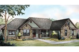 ranch house plan manor heart 10 590 front large style notable