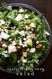 easy salad recipe easy salad with pears gorgonzola and white wine vinaigrette