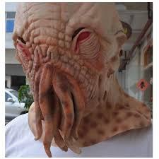 halloween skin mask amazon com om tm halloween creepy ood octopus head mask doctor