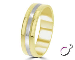 the gents wedding band two tone 6mm gents wedding band gwr045 ring