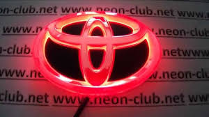 toyota car logo chip tuning 4d emblem toyota parts u0026 accessories led badge toyota