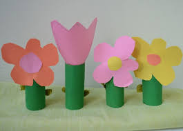Paper Roll Crafts For Kids - tissue paper flowers inhabitots