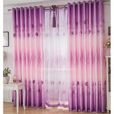 Pink And Purple Curtains Pink Purple Polyester Lines And Geometric Patterns Modern