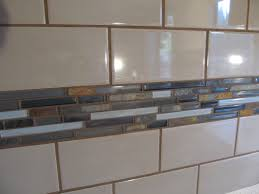 glamorous kitchen backsplash subway tile with accent