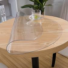 Dining Table Protector by Amazon Com Etechmart Round 2 0mm Thicken Clear Pvc Tablecloth