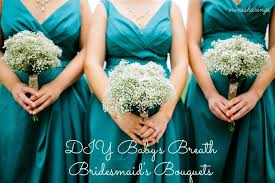 baby s breath bouquets pinch of wedding diy baby s breath bridesmaid s bouquets