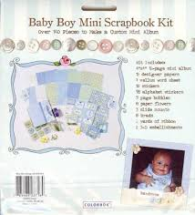 baby boy scrapbook album boy mini scrapbook album kit colorbok