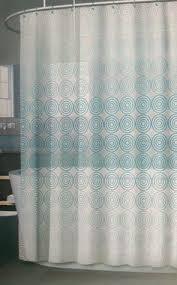 Shower Curtain Vinyl - new splash bath mill aqua u0026 baby blue chevron peva shower curtain