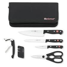 gourmet kitchen knives wüsthof gourmet 7 traveler knife set williams sonoma