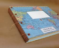 personalized scrapbook travel scrapbook album with paper pages pockets envelopes