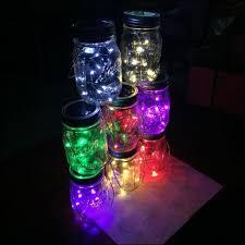 buy 10 led solar solar light up jar firefly lights rechargeable